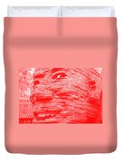Gentle Giant In Negative Red Duvet Cover