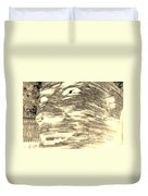 Gentle Giant In Negative Sepia Duvet Cover