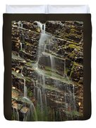 Gentle Waterfall In Glacier National Park Duvet Cover