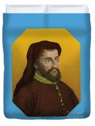 Geoffrey Chaucer, Father Of English Duvet Cover