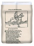Geoffrey Chaucers, Canterbury Tales Duvet Cover