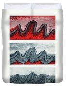 Geologic Crumpling Duvet Cover