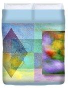 Geometric Blur Duvet Cover