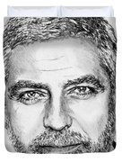 George Clooney In 2009 Duvet Cover