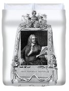 George Frideric Handel, German Baroque Duvet Cover by Omikron