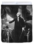 George Washington, 1st American Duvet Cover by Omikron