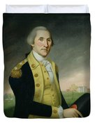 George Washington At Princeton Duvet Cover