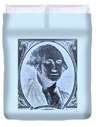 George Washington In Negative Cyan Duvet Cover