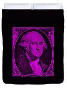 George Washington In Purple Duvet Cover