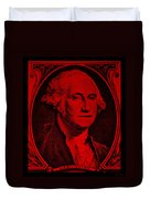 George Washington In Red Duvet Cover