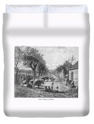Georgia: Black Village Duvet Cover