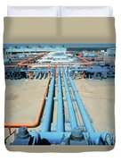 Geothermal Power Plant Duvet Cover