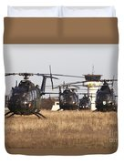 German Army Bo-105 Helicopters, Stendal Duvet Cover