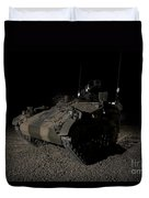 German Army Crew In A Wiesel 1 Atm Tow Duvet Cover