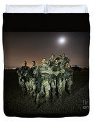 German Army Crew Poses Duvet Cover
