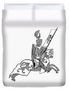 German Knight Duvet Cover