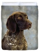 German Pointer Portrait Of A Dog Duvet Cover