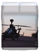 German Tiger Eurocopters At Stendal Duvet Cover