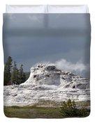 Geyser In Yellowstone Duvet Cover