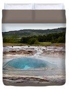 Geysir Eruption Sequence Duvet Cover