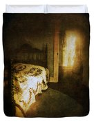 Ghostly Figure In Hallway Duvet Cover by Jill Battaglia