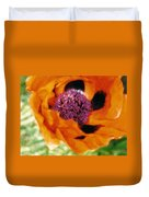 Giant Orange Poppy Duvet Cover