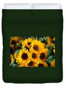 Giant Sunflowers For Sale In The Swiss City Of Lucerne Duvet Cover