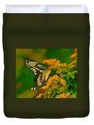 Giant Swallowtail On Goldenrod Duvet Cover