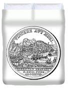 Gibraltar: Medal, 1727 Duvet Cover