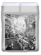 Gin Lane, William Hogarth Duvet Cover