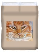 Ginger Cat  Duvet Cover