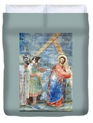 Giotto: Road To Calvary Duvet Cover