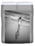Girl By Ocean Duvet Cover
