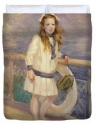 Girl In A Sailor Suit Duvet Cover