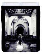 Girl In The Church Duvet Cover