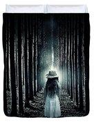 Girl In The Forest Duvet Cover