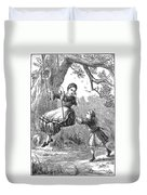 Girl On Swing, 1873 Duvet Cover