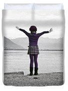 Girl On The Shores Of Lake Maggiore Duvet Cover