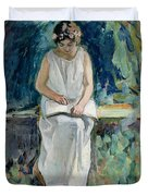 Girl Reading Duvet Cover