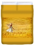 Girl With The Golden Locks Duvet Cover