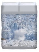 Glacial Ice Calving Into The Water Duvet Cover