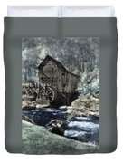Glade Creek Mill In Infrared. Duvet Cover