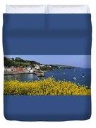 Glandore Village & Harbour, Co Cork Duvet Cover
