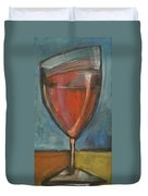 Glass Of Red Duvet Cover by Tim Nyberg