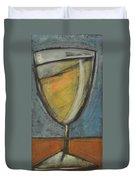 Glass Of White Duvet Cover