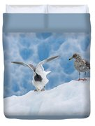 Glaucous-winged Gull Larus Glaucescens Duvet Cover