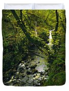 Glenariff, Co Antrim, Ireland Waterfall Duvet Cover