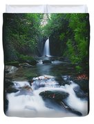 Glencar, Co Sligo, Ireland Waterfall Duvet Cover