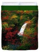 Glenoe Waterfall And Glen, Co Antrim Duvet Cover