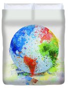 Globe Painting Duvet Cover
